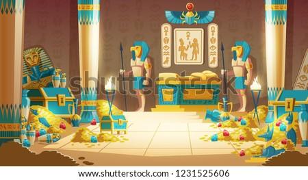 egypt pharaoh tomb or treasury