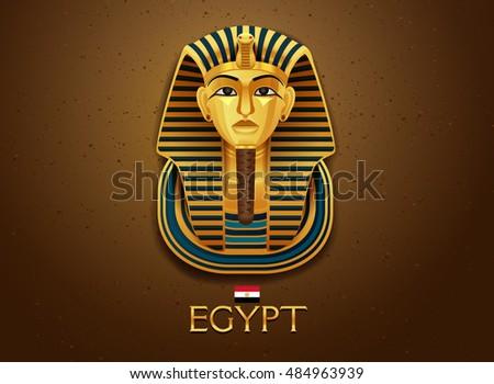 Egypt pharaoh vector illustration