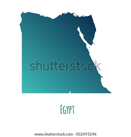 egypt vector map with color