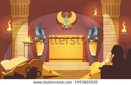 egyptian burial chamber with