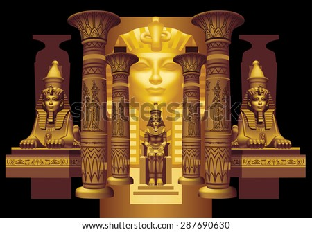 egyptian pharaoh between two
