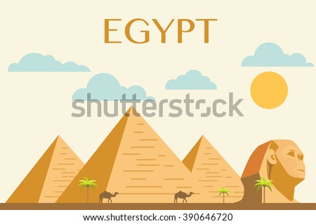 egyptian pyramids vector on