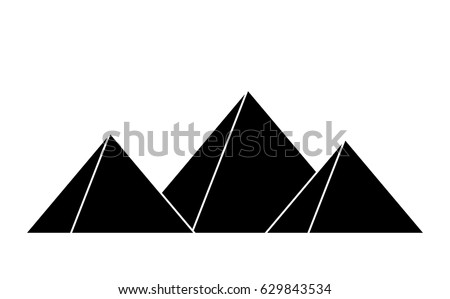 egyptian pyramids vector symbol icon design. Beautiful illustration isolated on white background