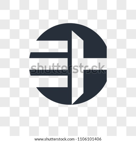 EH HE vector icon isolated on transparent background, EH HE logo concept