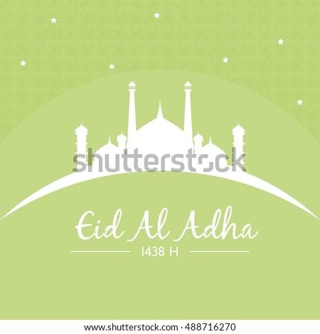 Eid adha mubarak greeting card islamic design template vector eid adha mubarak greeting card islamic design template vector illustration m4hsunfo