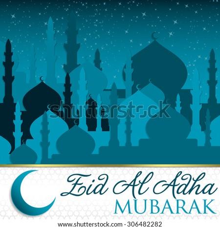 eid al adha card in vector