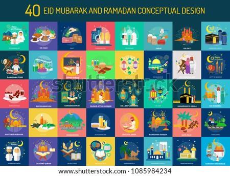 Eid Mubarak and Ramadan Conceptual Design