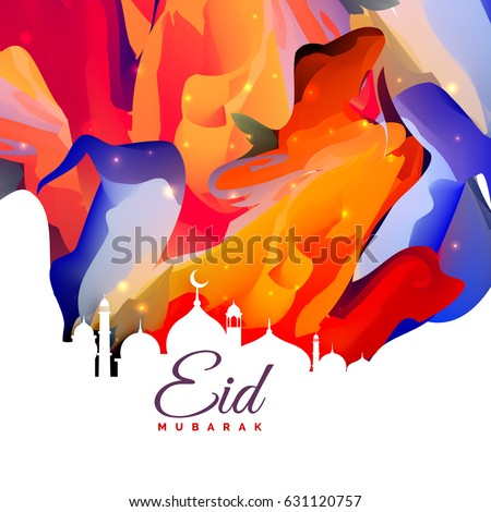 eid mubarak creative abstract