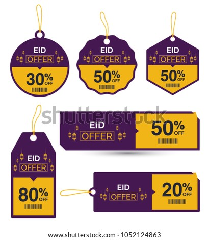 Eid Offer Discount Tag Collection Set