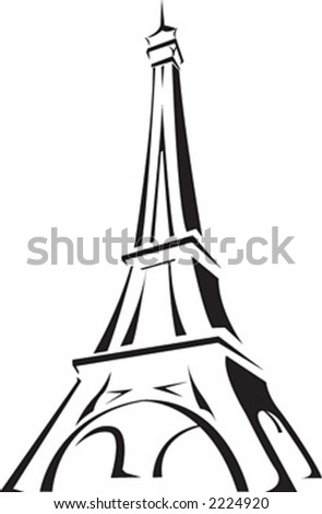 Eiffel Tower Colouring Picture on Free Eiffel Tower Clip Art