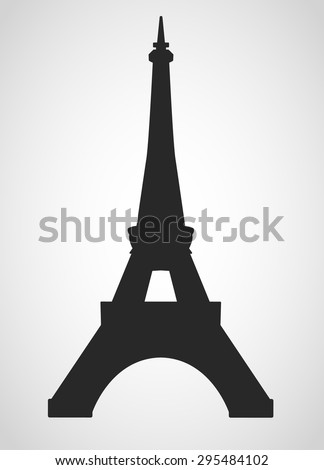 eiffel tower black on a white