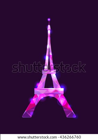 eiffel tower concept pink