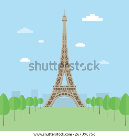 eiffel tower eps10