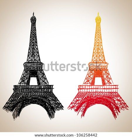 Eiffel Tower : illustration vector
