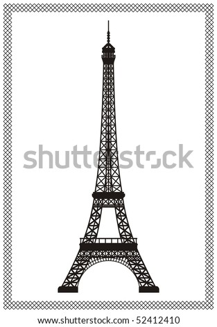 Eiffel tower in Paris isolated vector illustration, it is easy to edit and change.