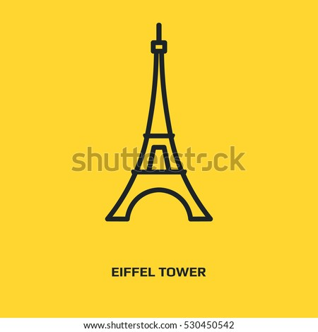 eiffel tower logo graphic