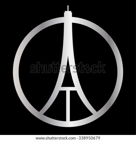eiffel tower logo paris icon