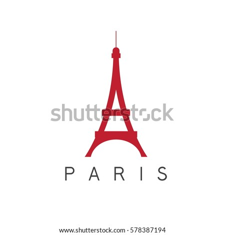 eiffel tower paris france vector design template