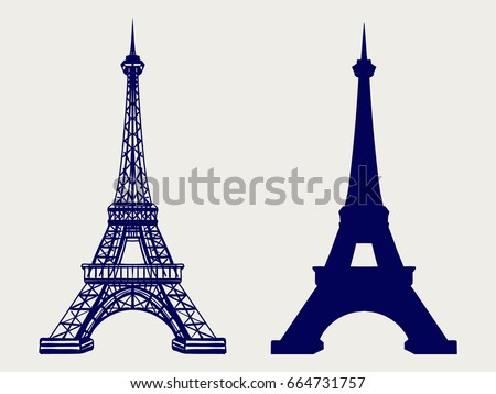 eiffel tower silhouette and...
