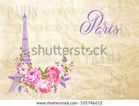 eiffel tower simbol with spring