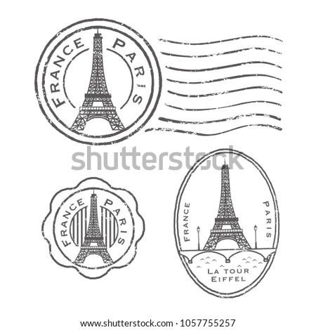 Eiffel Tower stamp set