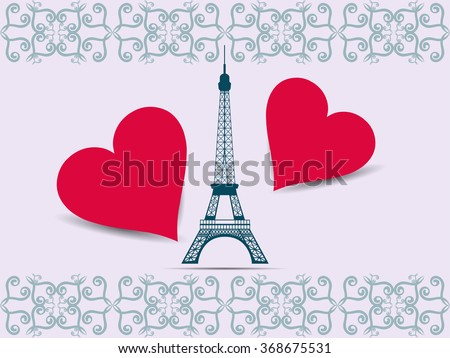 eiffel tower valentine