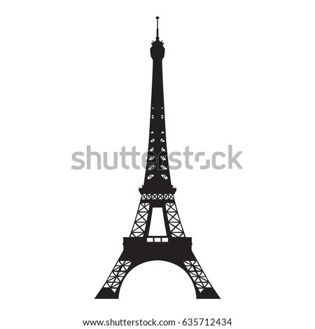 eiffel tower  vector isolated