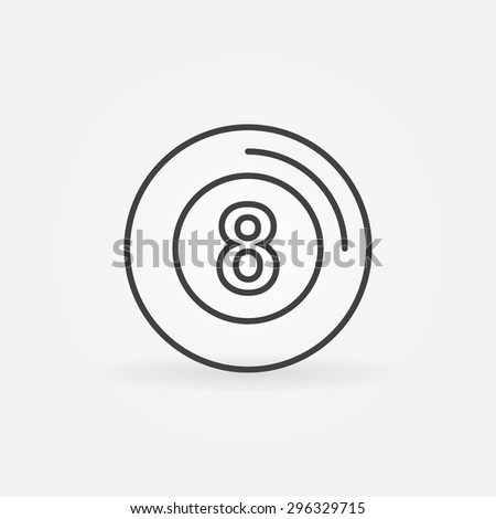 eight ball icon or logo