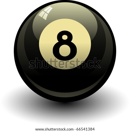 Eight ball. Vector illustration over white - stock vector