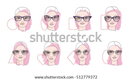 eight face shapes with options
