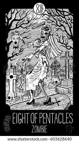 eight of pentacles zombie