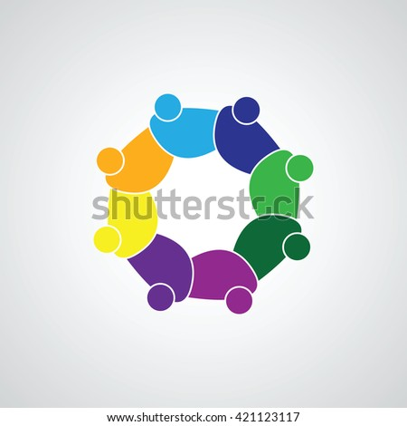 People Group Connectivity Logo  Vector… Stock Photo