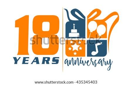 eighteen years gift box ribbon