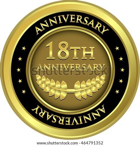 eighteenth anniversary gold...