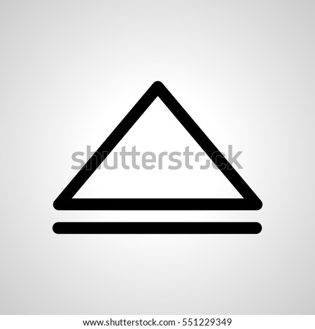 eject icon. isolated sign symbol