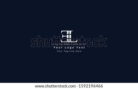 EL LE letter logo. Unique attractive creative modern initial EL LE E L initial based letter icon logo Stock fotó ©