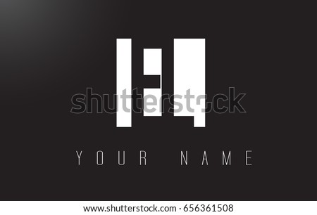 EL Letter Logo With Black and White Letters Negative Space Design.