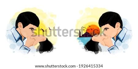 El öpmek. Saygı duyulan, yaşça büyük insanın elini opup ve alna koymak bir musluman gelenegi. Hand kissing. Turkish culture and kissing the hands of the elders. Respect for the elderly. Hatırlamak. Stok fotoğraf ©
