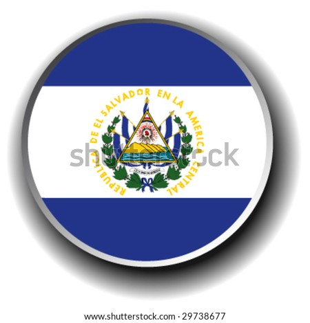 el salvador flag icon - vector button