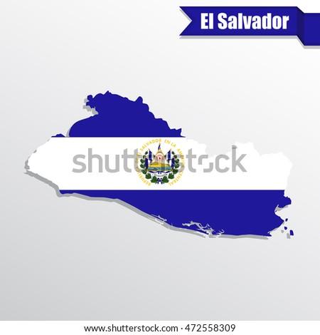 el salvador map with flag