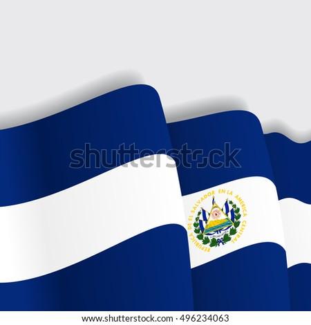 el salvador waving flag vector