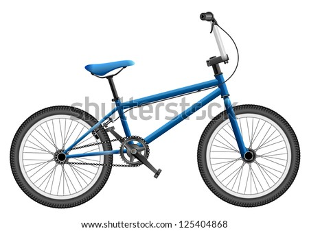 Elaborate illustration of BMX bike, EPS 10 file