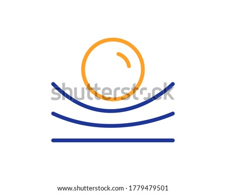 Elastic material line icon. Resilience or flexibility sign. Flexible pressure symbol. Colorful thin line outline concept. Linear style elastic material icon. Editable stroke. Vector