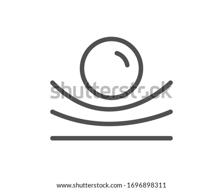 Elastic material line icon. Resilience or flexibility sign. Flexible pressure symbol. Quality design element. Editable stroke. Linear style elastic material icon. Vector ストックフォト ©