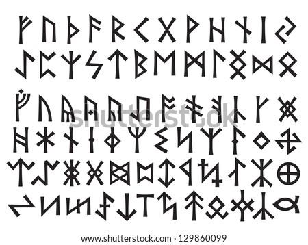 elder futhark  24 letters above
