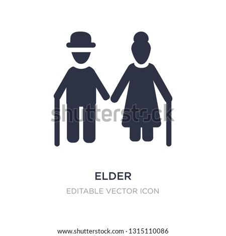 elder icon on white background. Simple element illustration from People concept. elder icon symbol design.