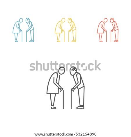 Elder People line icon