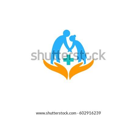 Elderly Care Logo Design Element