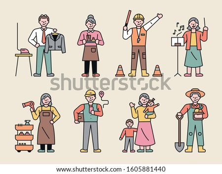 elderly characters with various