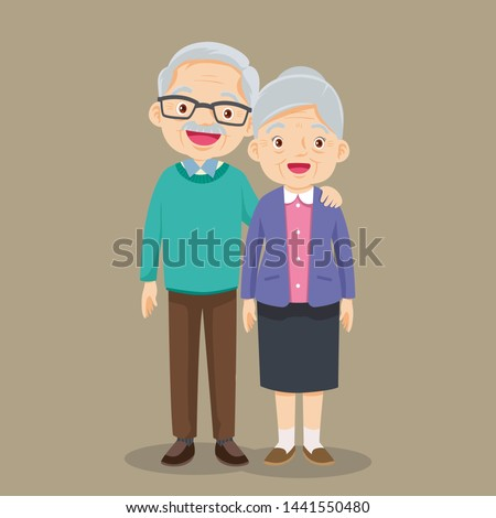 Elderly couple holding hands.Grandmother and grandfather together. Grandparents. Elderly couple. A man and a woman of old age.